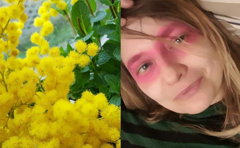 Menu giallo come il sole